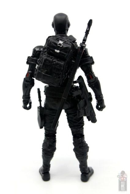 gi joe classified series snake eyes figure review - rear with backpack