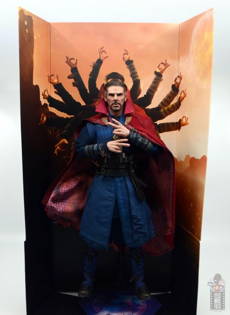 hot toys avengers infinity war doctor strange figure review - wide shot of backdrop