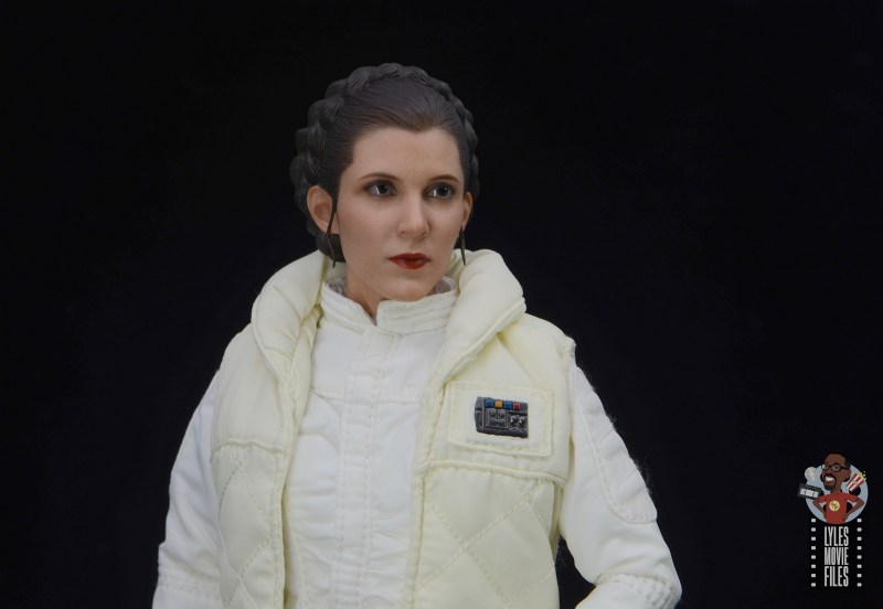 hot toys star wars hoth princess leia figure review - wide shot
