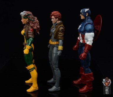 marvel legends black widow wal-mart exclusive figure review -facing rogue and captain america
