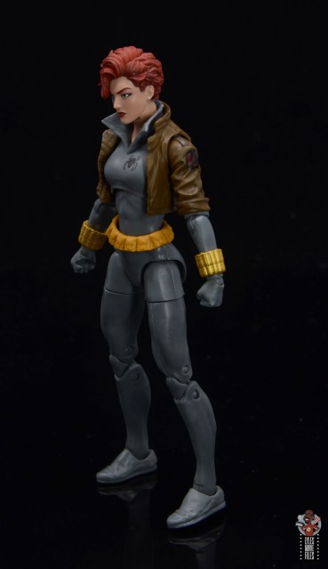 marvel legends black widow wal-mart exclusive figure review - left side