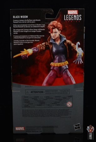 marvel legends black widow wal-mart exclusive figure review - package rear