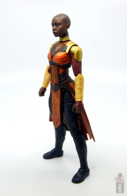 marvel legends build a figure okoye figure review - left side