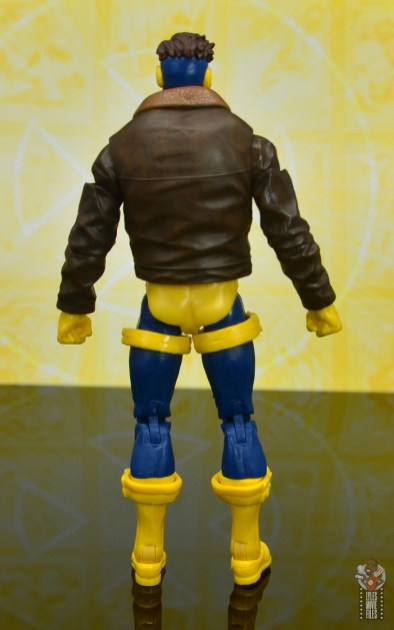 marvel legends cyclops, jean grey and wolverine set review - cyclops rear