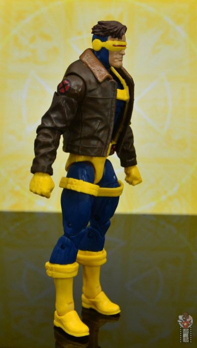 marvel legends cyclops, jean grey and wolverine set review - cyclops right side