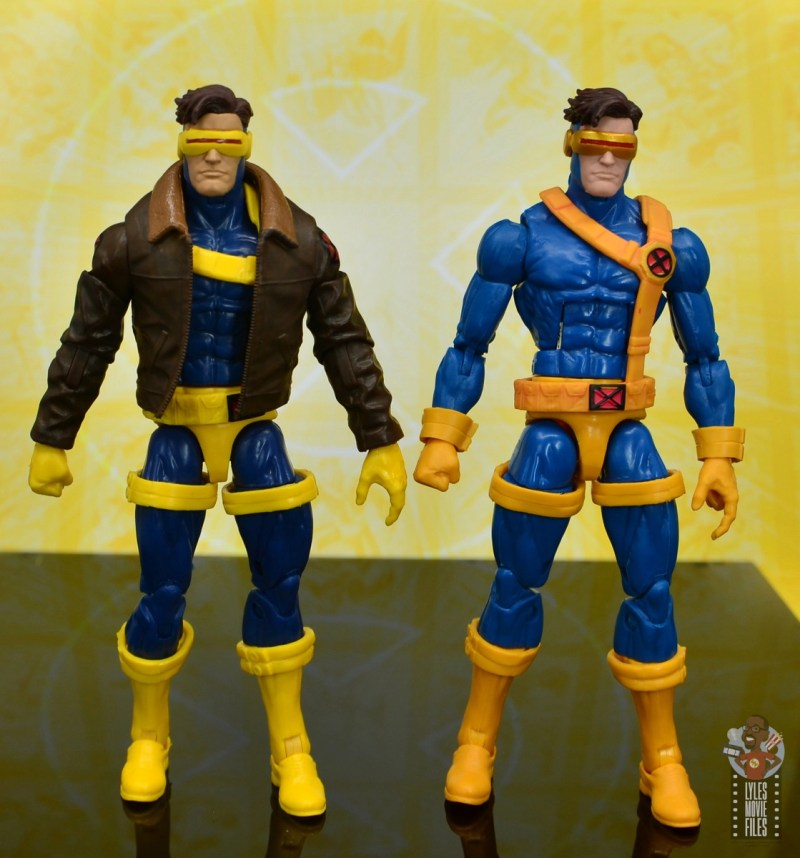 marvel legends cyclops, jean grey and wolverine set review - cyclops with first jim lee cyclops
