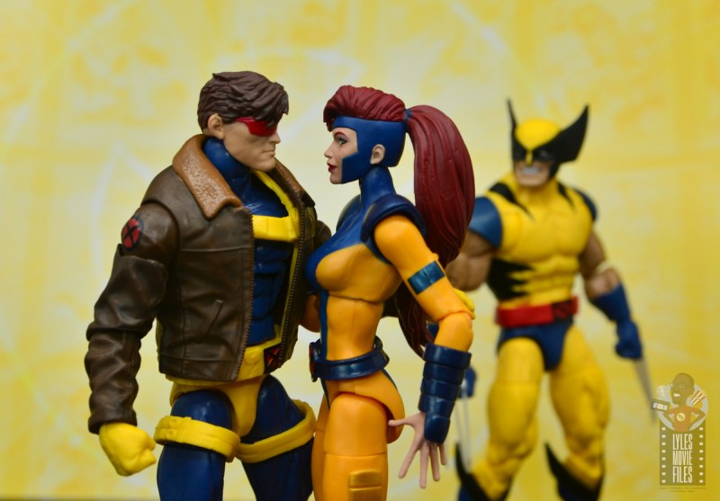 marvel legends cyclops, jean grey and wolverine set review - jealous wolverine