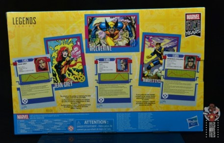 marvel legends cyclops, jean grey and wolverine set review - package rear