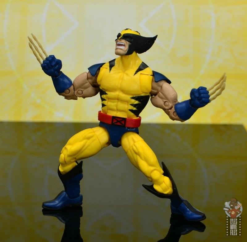 marvel legends cyclops, jean grey and wolverine set review - wolverine rage scream