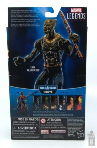 marvel legends erik killmonger figure review - package rear