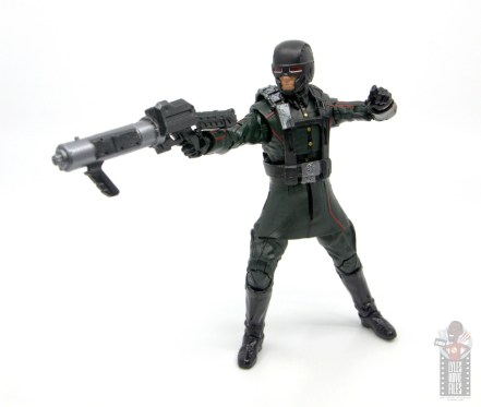 marvel legends marvel studios 10 years red skull figure review - hydra soldier aiming blaster