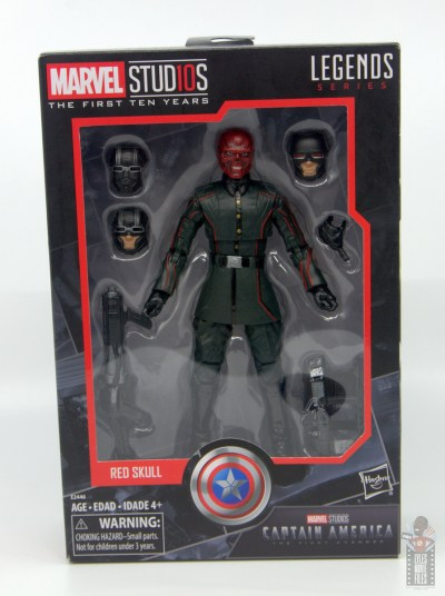 marvel legends marvel studios 10 years red skull figure review - package front