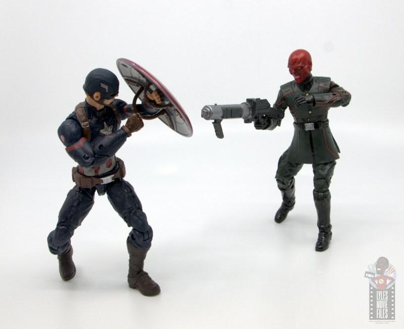 marvel legends marvel studios 10 years red skull figure review - taking on captain america