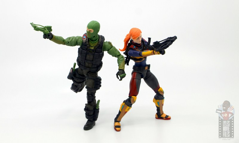 GI Joe Classified Series Beach Head figure review - going to battle with scarlett
