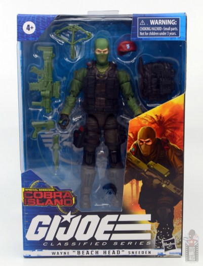 GI Joe Classified Series Beach Head figure review - package front