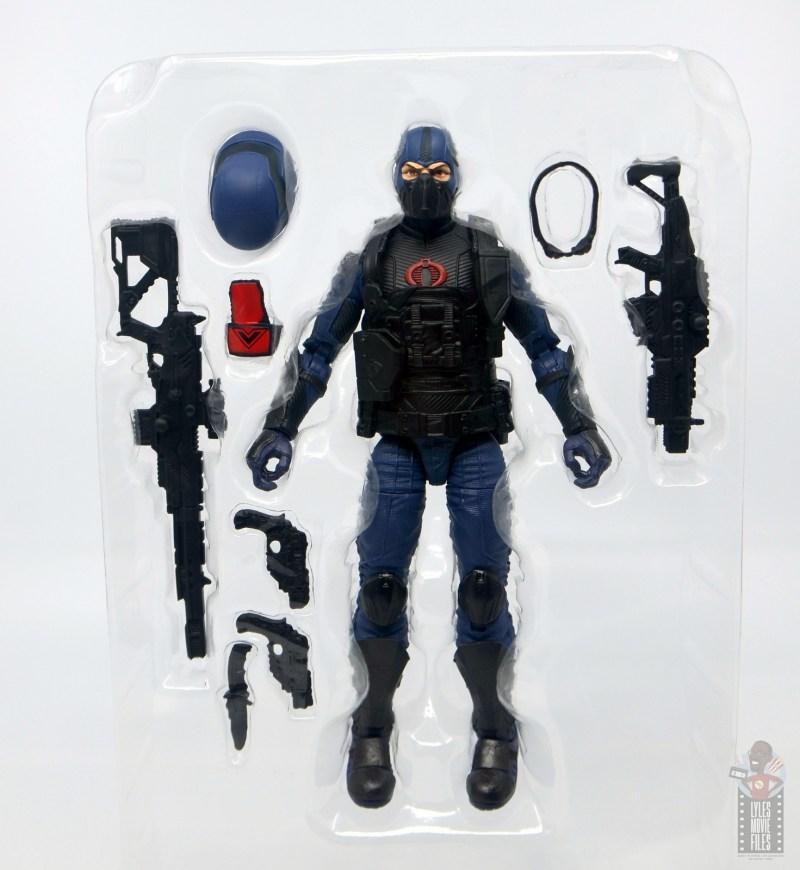 gi joe classified cobra trooper figure review - accessories in tray
