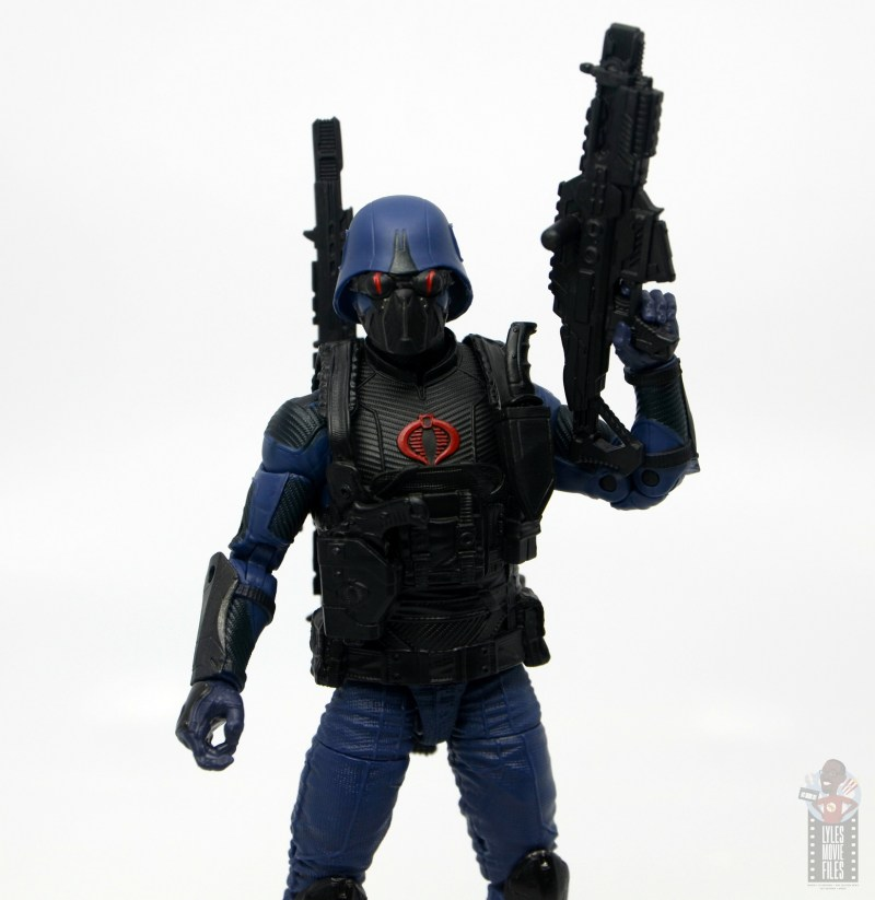 gi joe classified cobra trooper figure review - goggles down machine gun up