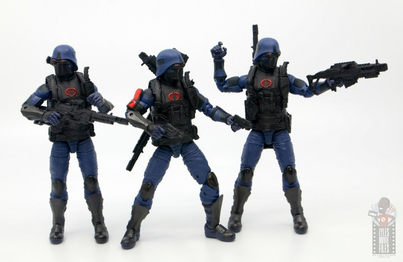 gi joe classified cobra trooper figure review - trooper trio on the hunt