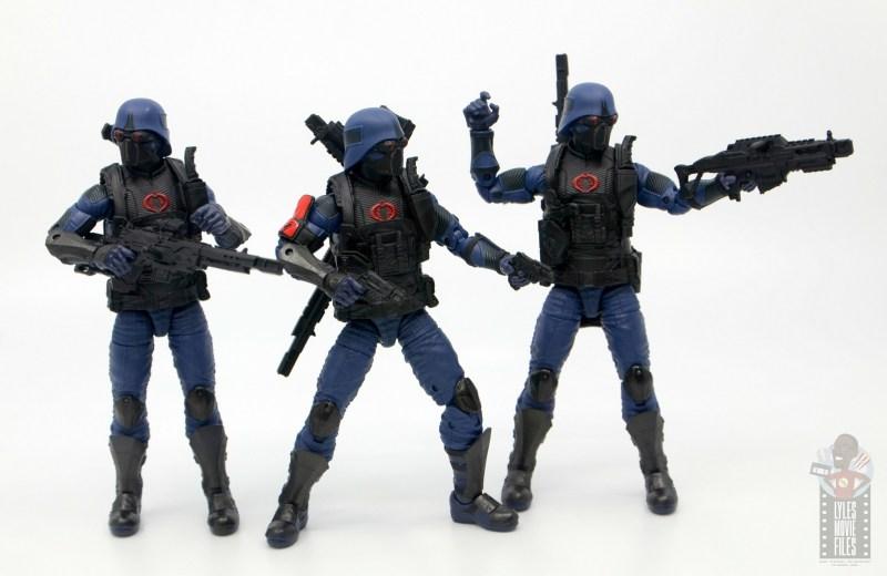 gi joe classified cobra trooper figure review - trooper trio on the hunt