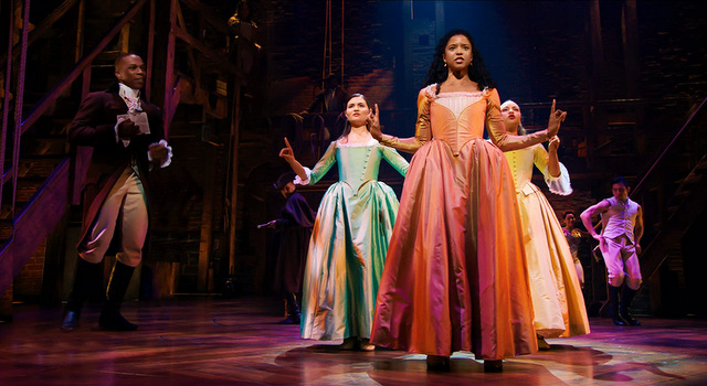 hamilton review - leslie odom jr. phillipa soo, renee elise goldsberry and jasmine cephas jones