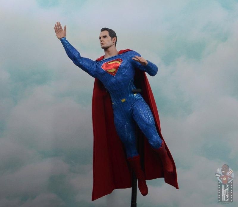 hot toys justice league superman figure review - flying