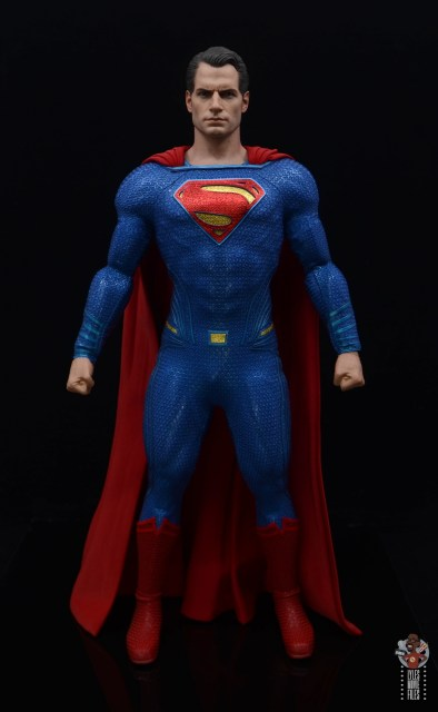 hot toys justice league superman figure review - front