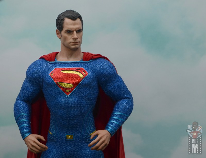 hot toys justice league superman figure review - in the clouds