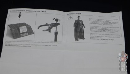hot toys justice league superman figure review - instructions rear