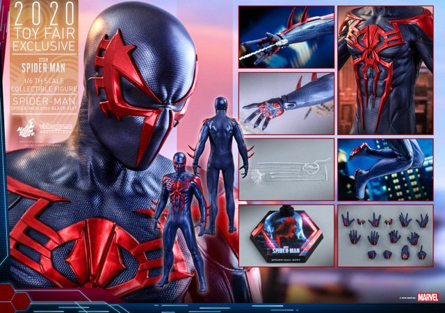 hot toys spider-man 2099 figure - collage