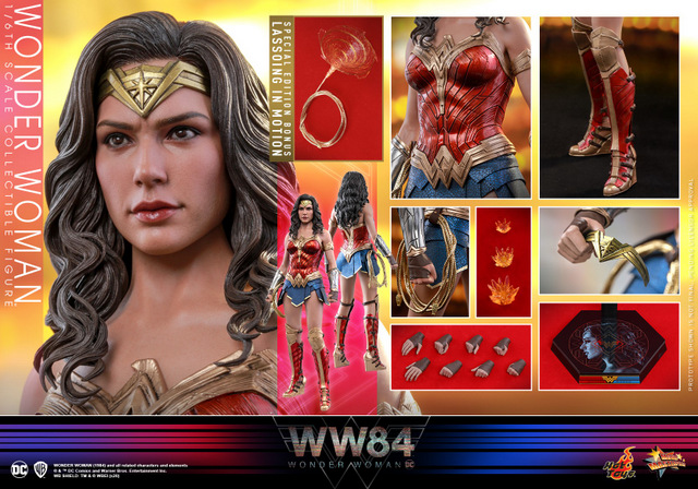 hot toys wonder woman 1984 figure - collage