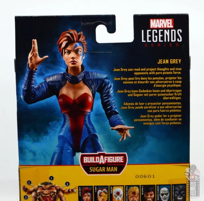 marvel legends age of apocalypse jean grey figure review - package bio
