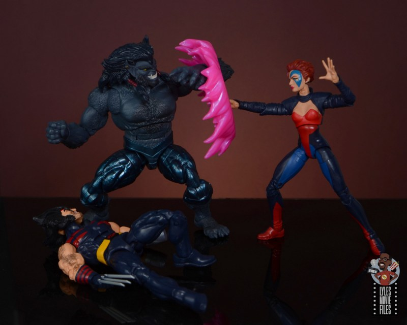 marvel legends age of apocalypse jean grey figure review - vs dark beast