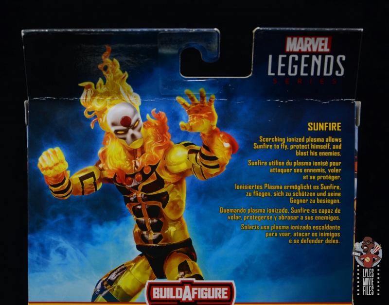 marvel legends age of apocalypse sunfire figure review - package bio