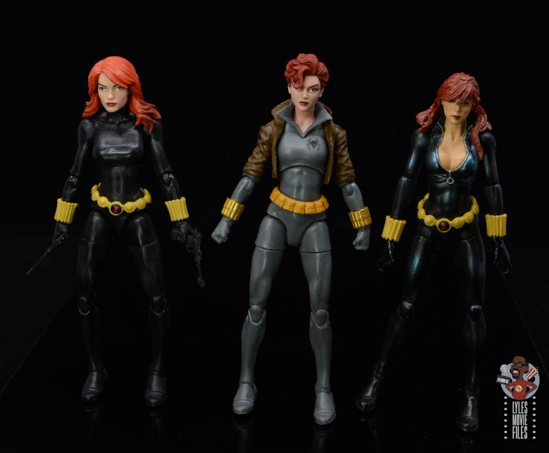 marvel legends black widow wal-mart exclusive figure review - scale with retro and first hasbro black widow