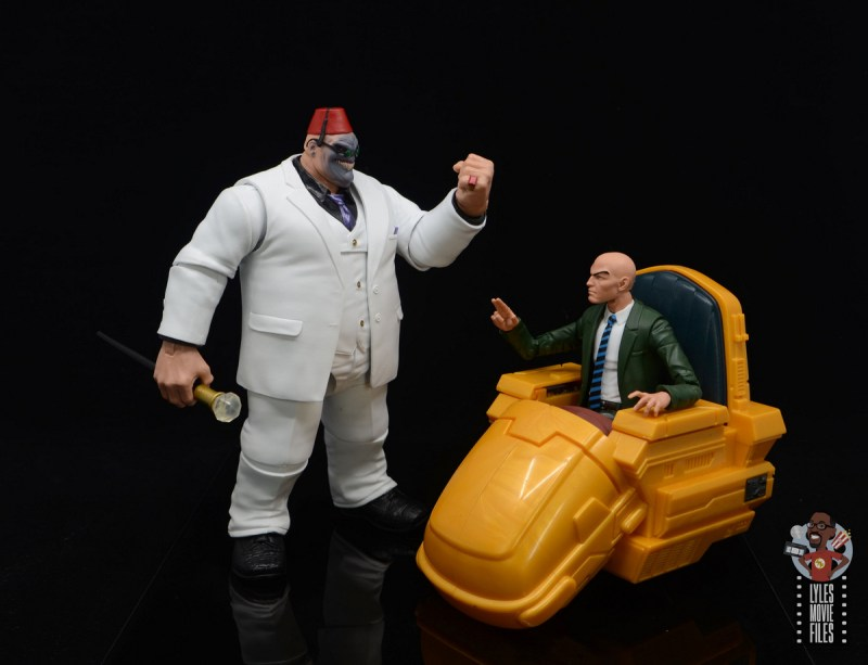 marvel legends build-a-figure shadow king figure review -face off with professor x