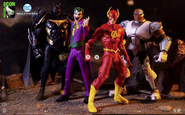 mcfarlane toys dc azrael, joker, flash and cyborg