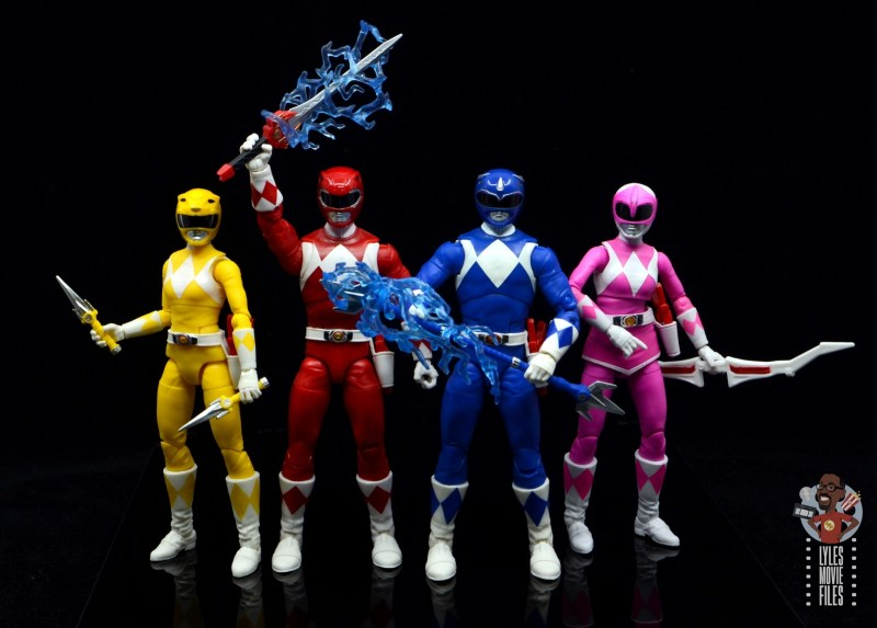 power rangers lightning collection blue ranger figure review - power rangers weapons out