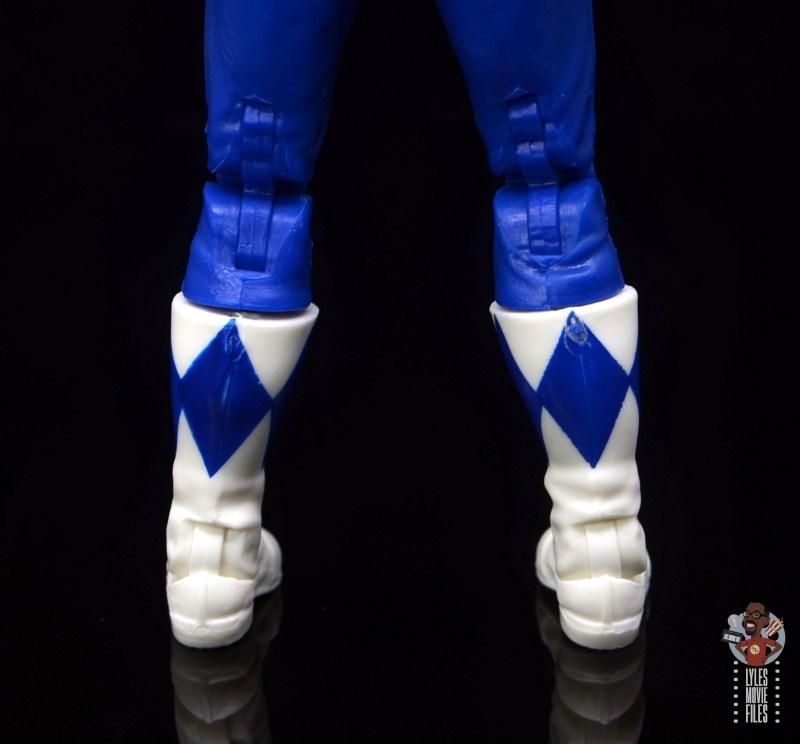 power rangers lightning collection blue ranger figure review - rear boot paint job
