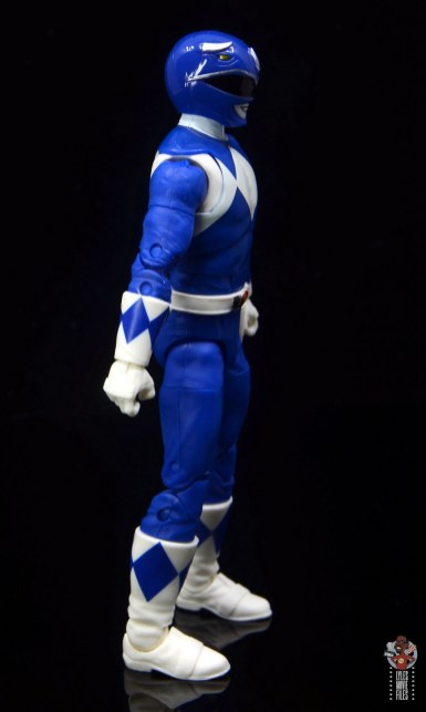 power rangers lightning collection blue ranger figure review - right side