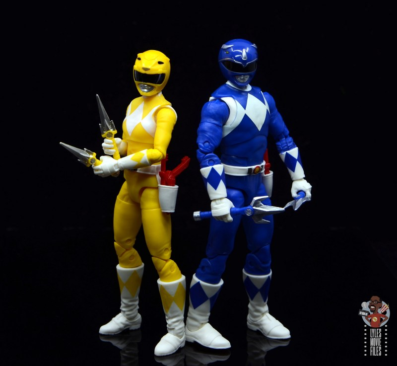 power rangers lightning collection blue ranger figure review - with yellow ranger