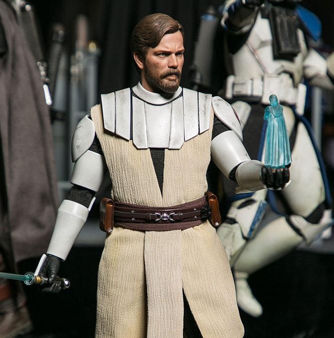 sdcc 2020 hot toys - clone wars obi-wan kenobi figure