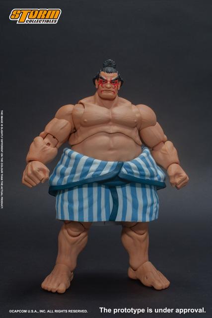 storm collectibles street fighter v - e. honda nostalgia costume figure - front