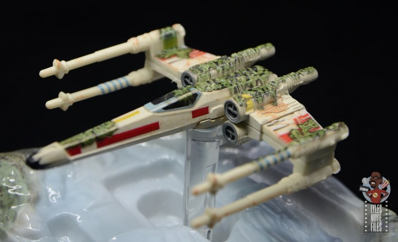 Hot Wheels The Empire Strikes Back X-Wing Dagobah swamp review - front weed detail
