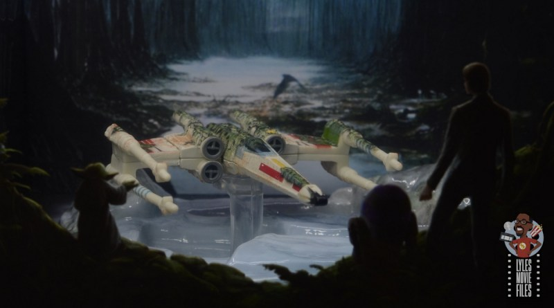 Hot Wheels The Empire Strikes Back X-Wing Dagobah swamp review - main pic