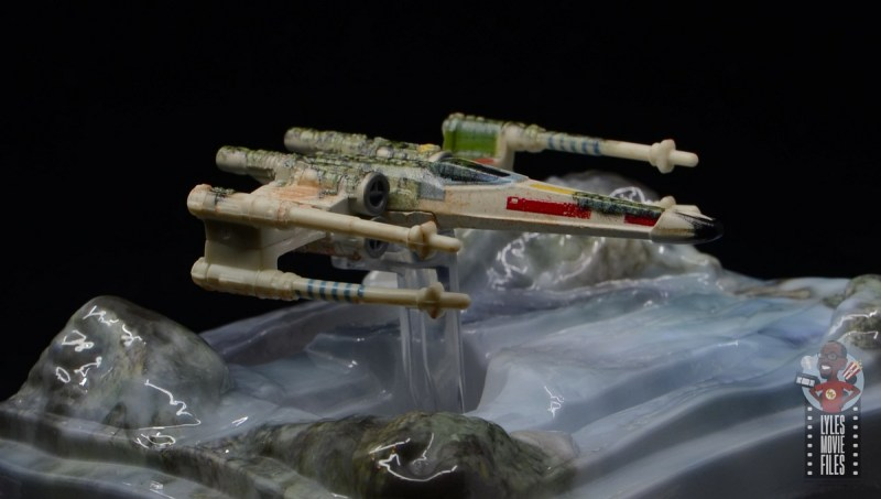 Hot Wheels The Empire Strikes Back X-Wing Dagobah swamp review - right side