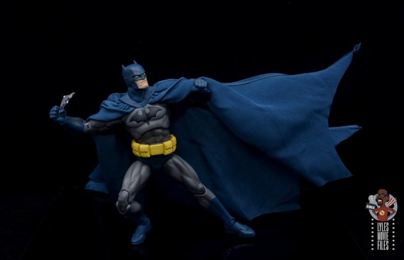 mafex hush batman figure review -about to toss batarangs