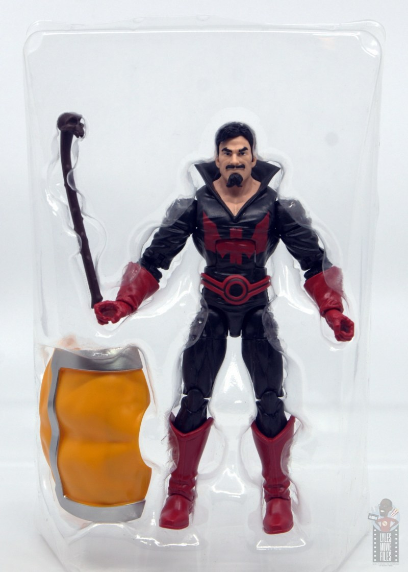 marvel legends black tom cassidy figure review - accessories in tray