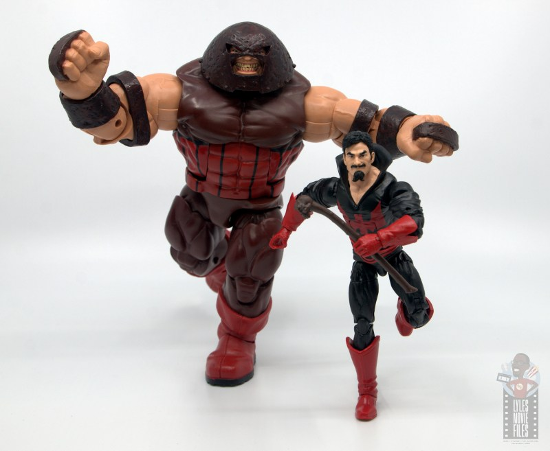marvel legends black tom cassidy figure review - on the run with juggernaut