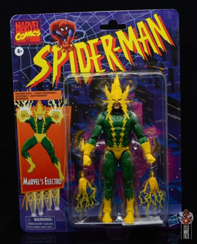 marvel legends electro figure review - package front