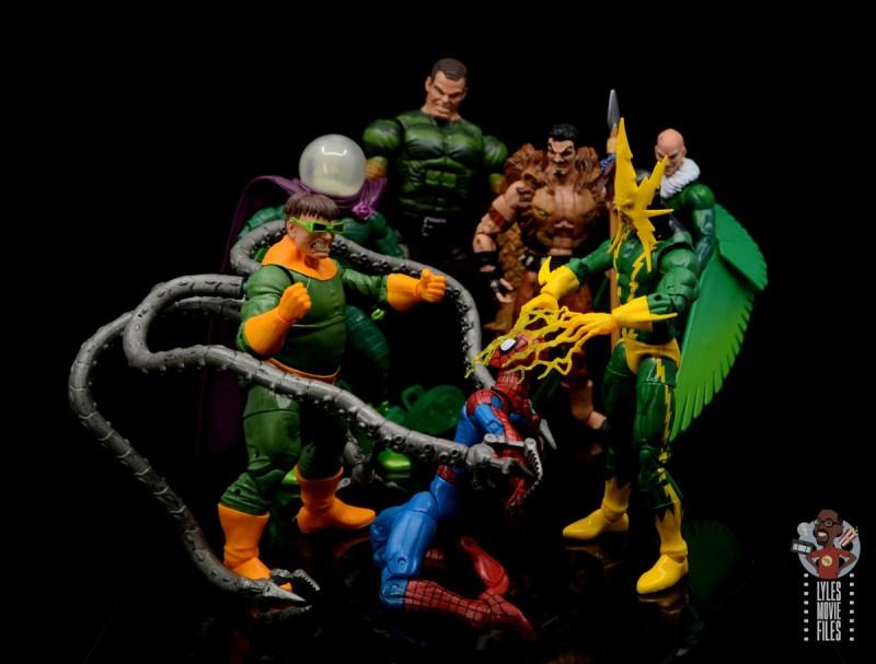 marvel legends electro figure review -sinister six triumphant